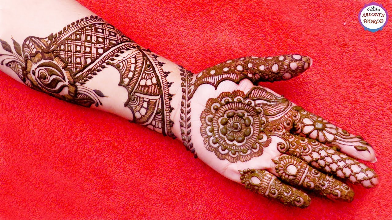 Mehndi Hands With Watch : Step by latest mehndi designs for hands bridal