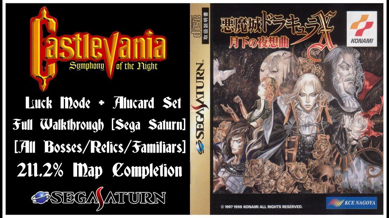 Castlevania: Symphony of the Night - Sega Saturn - 211 2% - Luck Mode -  Full Walkthrough [HD]