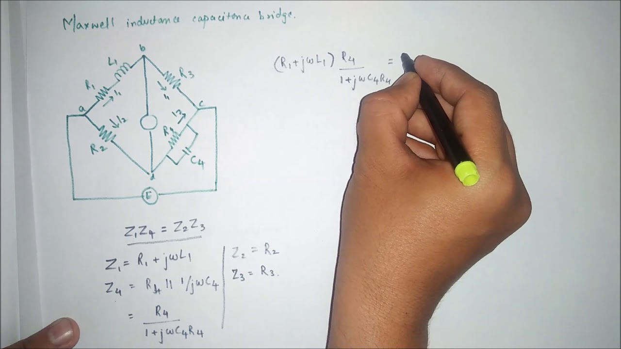 Maxwell Inductance Capacitance Bridge In Electrical And Electronic Find The Thvenin Equivalent With Respect To 1nf Capacitor Measurement