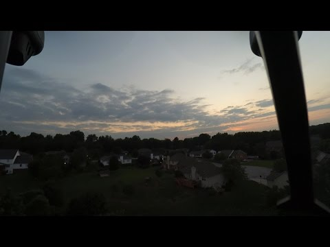 Xiaomi Yi Cam on the Syma X8C Venture at Sunset