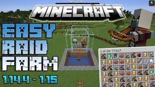 Minecraft Easy RAID FARM 1.14 - 1.16 Tutorial Very FAST!