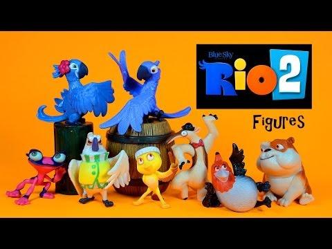 Rio 2 Carnival Party Pack Figures Blu Jewel Nico Pedro Luiz Nigel Gabi Charlie