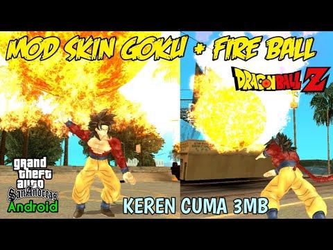 Mod Skin Goku & Fire Ball (DBZ V2) - GTA SA Android