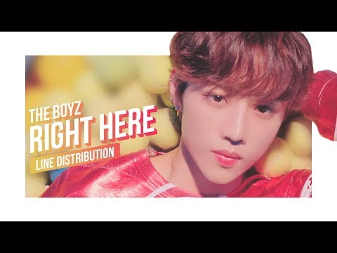 THE BOYZ - Right Here Line Distribution (Color Coded) | 더보이즈