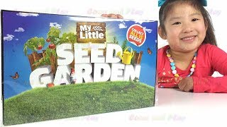 Tanya Having Fun with My Little Seed Garden. Seeds, Pots and Soil Growing Kit