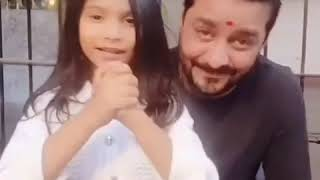 My littlestar with bhau @hindustanibhau ...jai hind dosto 🇮🇳