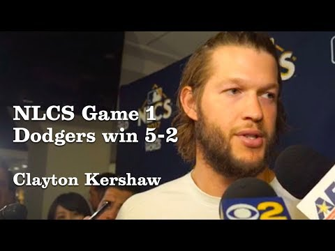 Clayton Kershaw on NLCS game 1 | Los Angeles Times