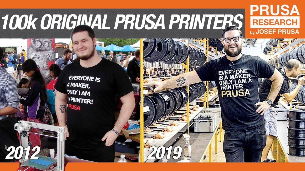 Prusa Offering Free Shipping to Celebrate Selling 100K 3D Printers