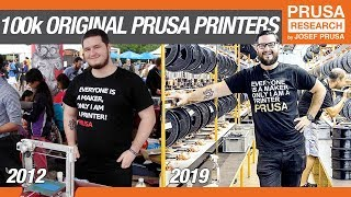 The Road to 100,000 Original Prusa 3D printers