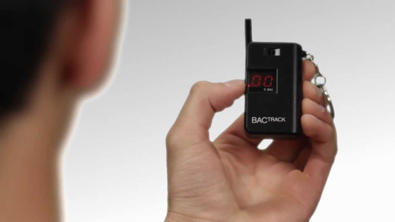 Bactrack Keychain Breathalyzer Demonstration Official Version