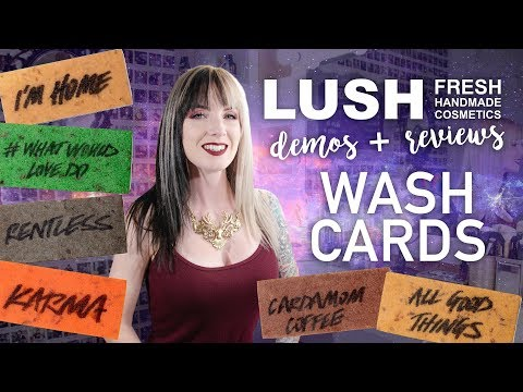 LUSH Cosmetics Wash Cards