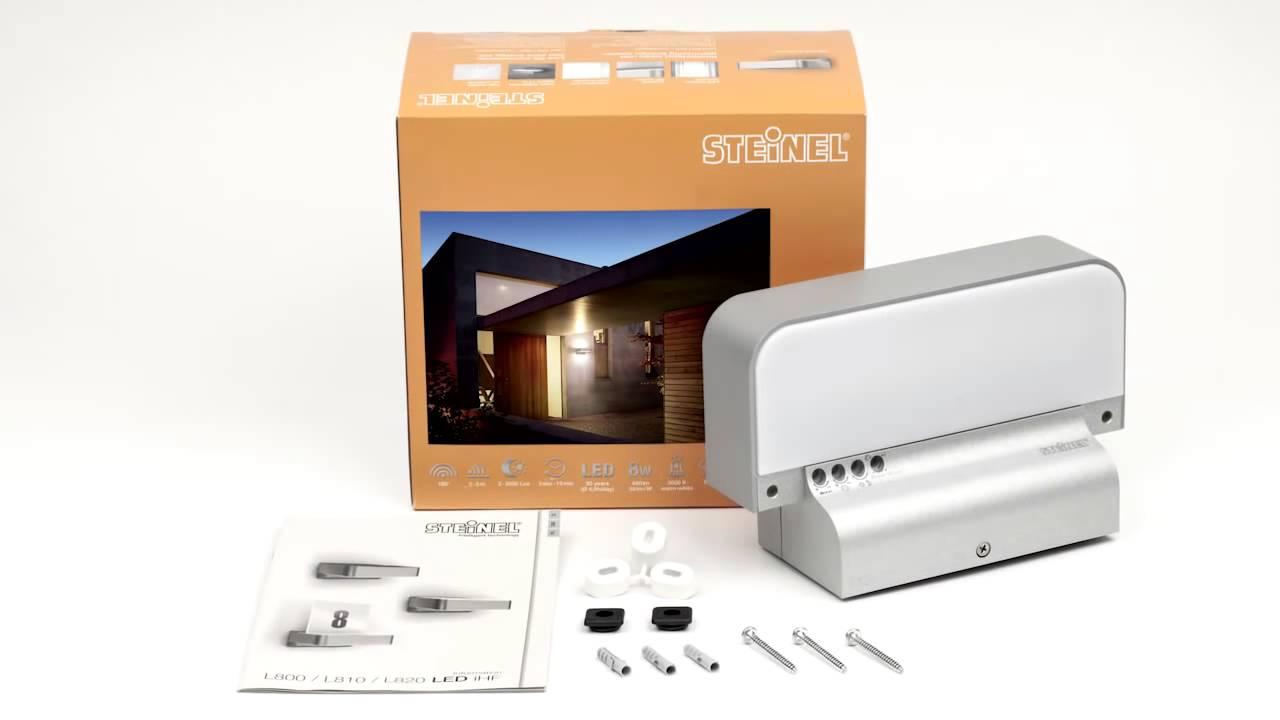 Steinel Led Design Sensor Buitenlamp L810 Hf Zilver Youtube