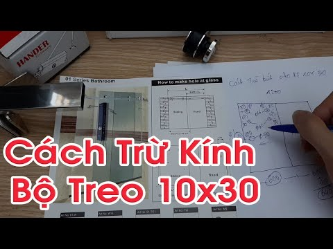 Phòng tắm kính - Hướng Dẫn Cách Trừ Kính Bộ Treo 10x30 cho Cabin phòng tắm Kính