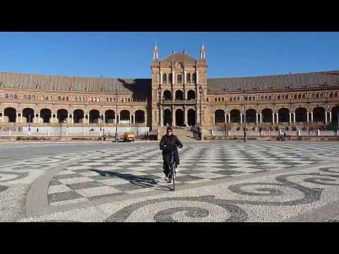 2013 España   Andalucia, Sevilla, Plaza de España, Tour Nord, Noël à Vélo