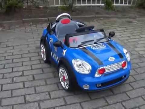 elektrische kinderauto mini cooper blauw youtube. Black Bedroom Furniture Sets. Home Design Ideas