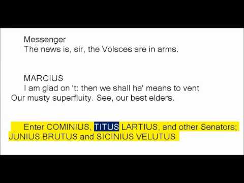 Coriolanus by William Shakespeare (Book Reading, British English Female Voice)