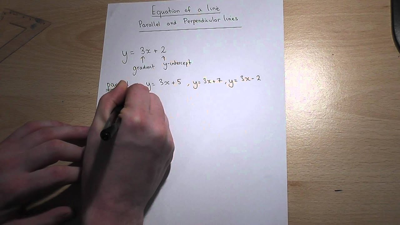 Drawing Lines Using Y Mx C : Parallel and perpendicular lines y mx c made easy gcse maths