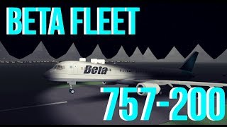 ROBLOX Beta Fleet First Class 757 flight!