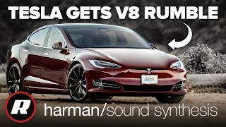Fake engine noise for Tesla EVs is Harman's sound synthesis tech hard at work