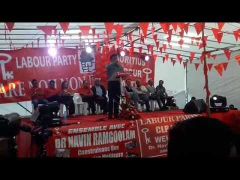 Opening Speech Congres Mauritius Labour Party No 18