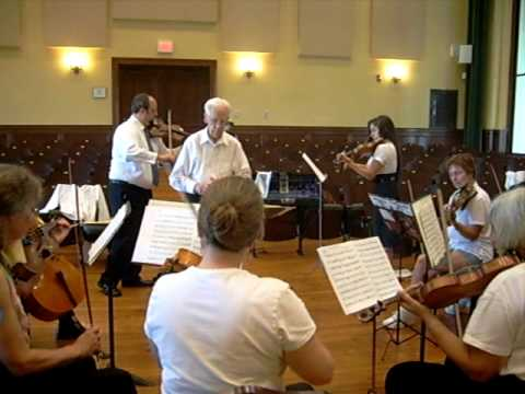 Bill Henigbaum conducts a movement from the Bach Double