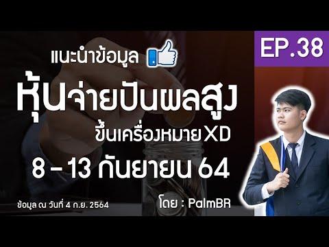 EP.38 | หุ้นจ่ายปันผลสูง ขึ้น XD 8-13 ก.ย. 2564 #หุ้นปันผลดี #PalmBR
