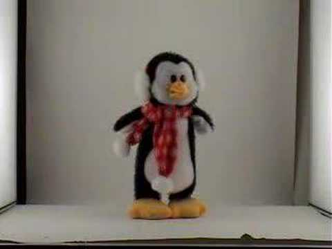 Jumping Penguin Animated Stuffed Animal