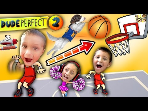 Kids Make Impossible Basketball Shot!  DUDE PERFECT 2!  (FGTEEV Gameplay / Skit)