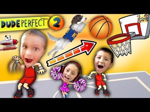 Kids Make Impossible Basketball Shot! DUDE PERFECT 2! (FGTEEV Gameplay / Skit)