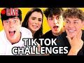 BEST Tik Tok Challenges w/ Noah Beck, Griffin Johnson, Blake Gray, Indiana Massara   AwesomenessTV