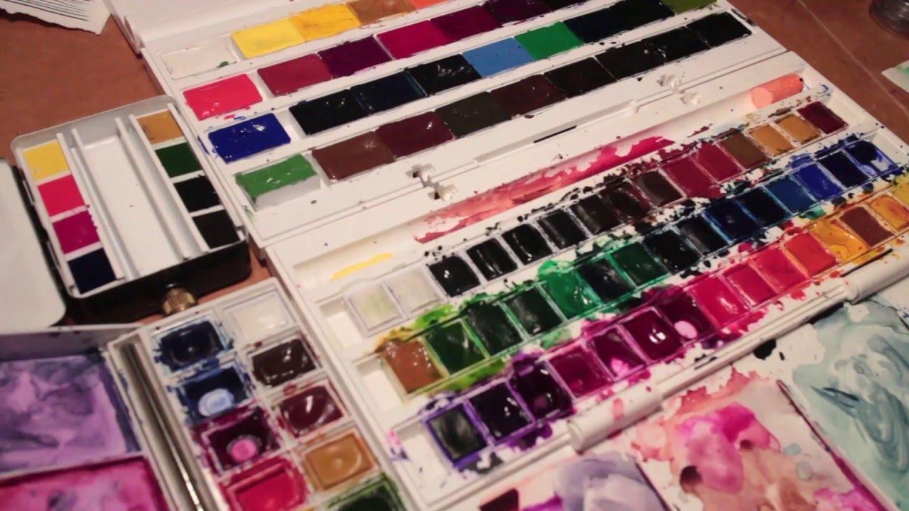 Watercolor Review Comparison Schmincke White Nights Cotman