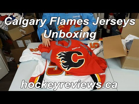0b9320a350d Calgary Flames Jerseys (Part 2) Unboxing. Hockey Reviews