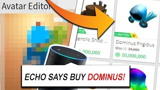 AMAZON ECHO SPENDS ALL OF MY ROBUX! (Roblox)