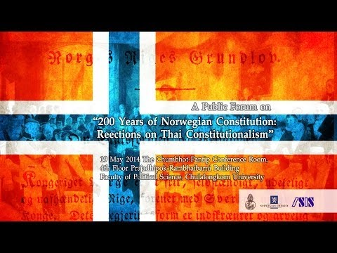 200 Years of Norwegian Constitution:  Reflections on Thai Constitutionalism 1/3