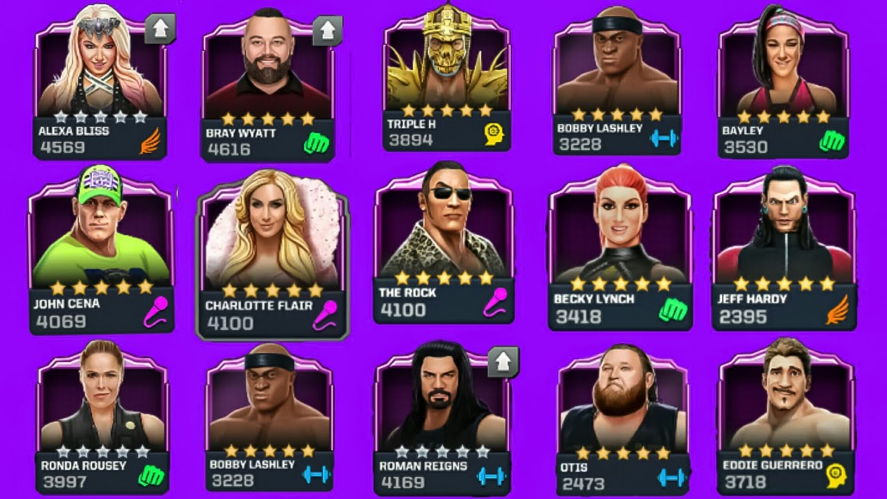 WWE Mayhem All Five 🌟 🌟 🌟 🌟 🌟 Master moves Version 2.0 by One & Only Vishal Techgamers :-)