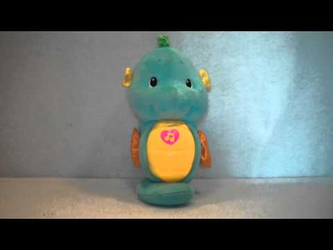 2008 Fisher Price Ocean Wonders Soothe And Glow Blue Seahorse Plush