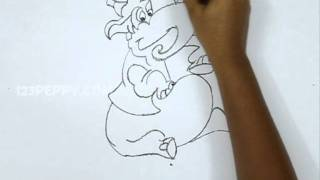 How to Draw an Alladin Elephant