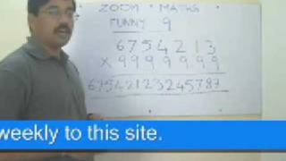 Math Mutiplication Made simple the Zoom Math Way. Funny Number 9 Part 1.