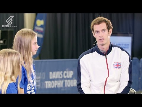 Andy Murray - Davis Cup Trophy Tour Q&A at Stirling University