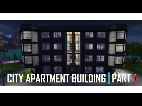 THE SIMS 4 | CITY 4 Story Apartment | BUILD (1/3)