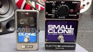 EHX Small Clone Vs Neo Clone | Pedal Comparison