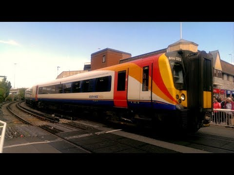 Farewell to South West Trains 1996 - 2017 - Trainspotting at Hamworthy, Poole and Parkstone