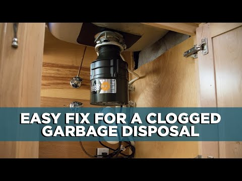 Here's What to Do When the Garbage Disposal is Clogged