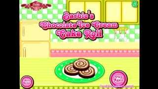 Barbie Chocolate Ice Cream Cake Roll Game Cooking Games