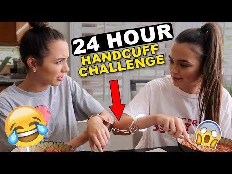 24 HOUR HANDCUFF CHALLENGE - Merrell Twins