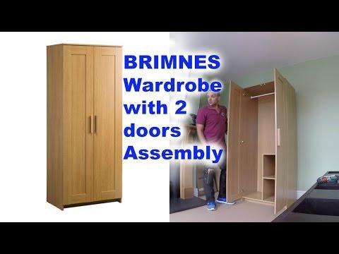 IKEA BRIMNES 2 doors wardrobe Assembly