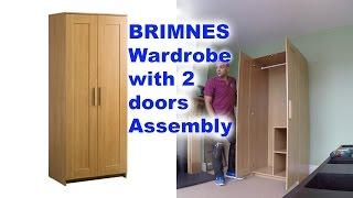Gambar cover IKEA BRIMNES 2 doors wardrobe Assembly