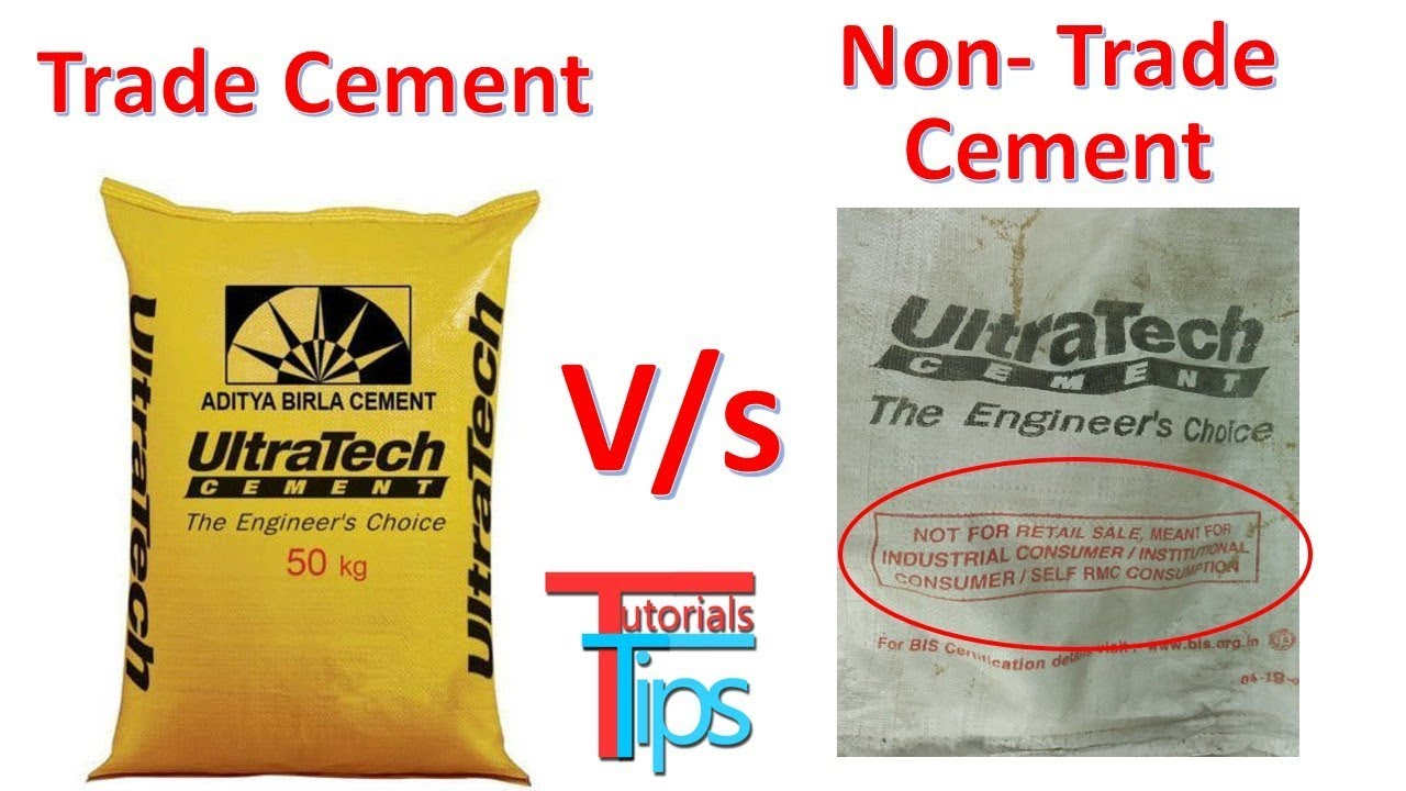 Difference B/w Trade or Non Trade Cement