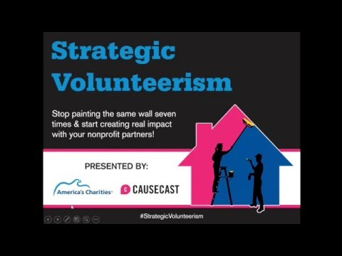 Strategic Volunteerism Webinar