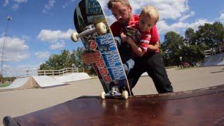 2 Year Old  Skateboarder Visits The Skatepark!